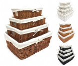 Wider Large Big Wicker Kitchen Handle Lined Storage Basket Empty Hamper Basket WBK1ROB
